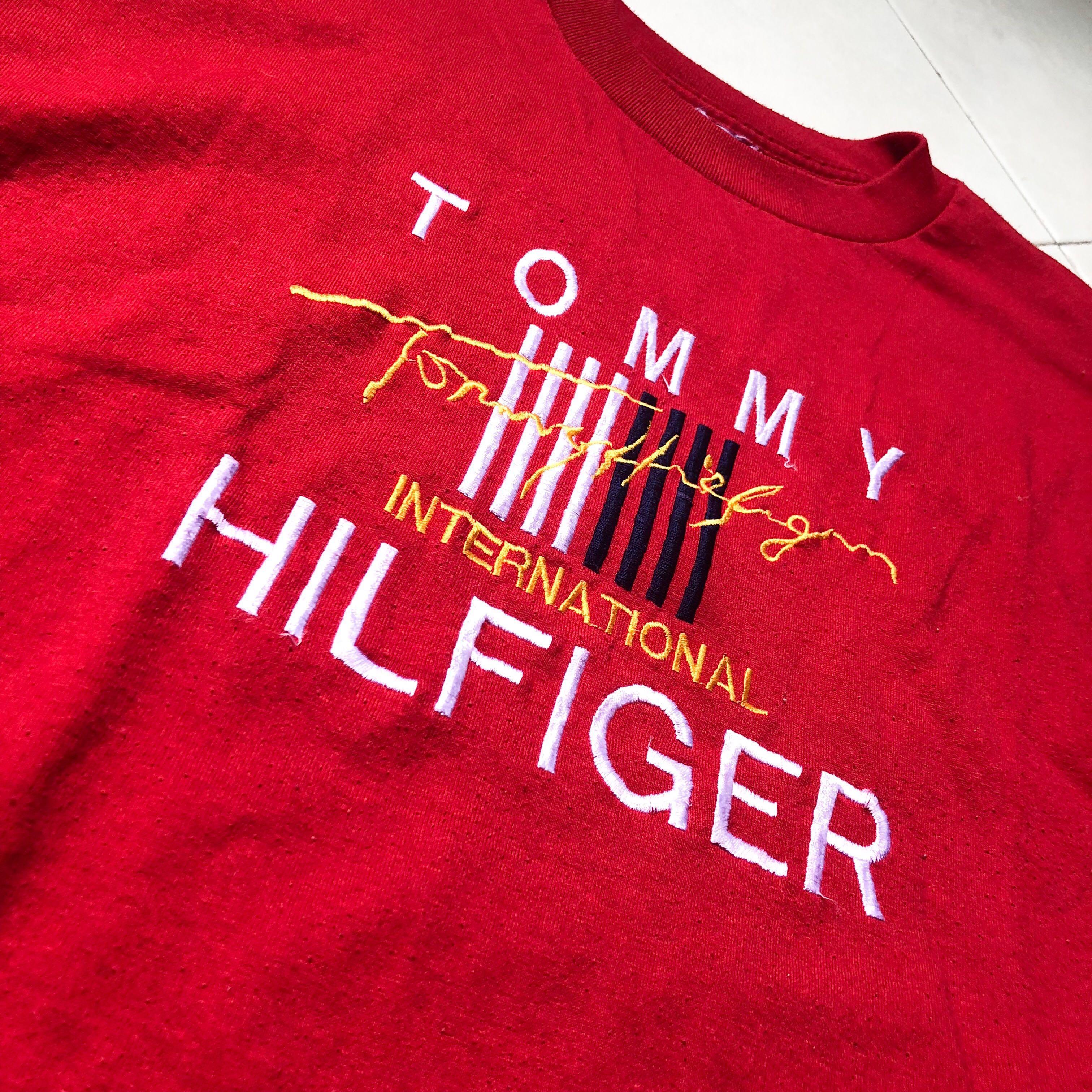 4ba13e7d Vintage Bootleg Tommy Hilfiger RARE, Women's Fashion, Clothes, Tops ...