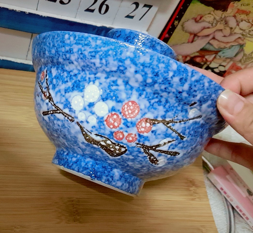 Vintage Cherry Blossom Japan Ceramic Big Bowl With Cover Kitchen Tupperware Set Merah Share This Listing