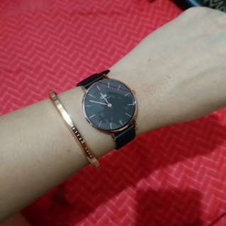 DW watch with cuff Rosegold