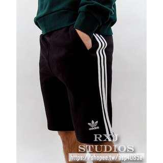 現貨 Adidas 3-STRIPES SHORTS 短褲 三葉草 夏天 棉褲 五分 黑白 CW2980