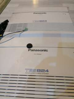 Used 2x KX-TES824 Advanced Hybrid System and 10x  Panasonic KX-T7730 phone.
