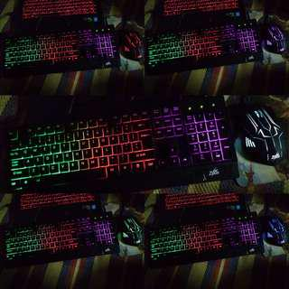 Zues gaming MOUSE and KEYBOARD w/ backlight