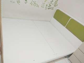 雙人加大可掀式床架+床頭櫃