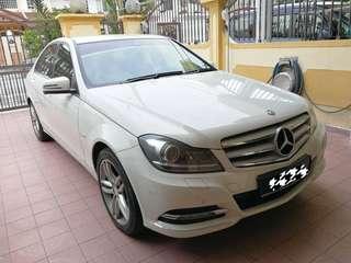 Mercedes benz C250 1.8 CGI  , Year 2011.