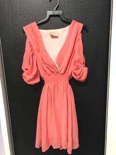 Blush Chiffon Formal Dress