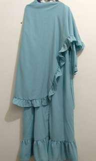 Syar'i baju muslim + jilbab syar'i