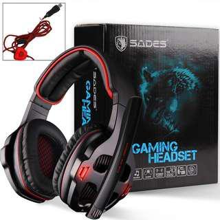 New & Original SADES SA-903(Red) gaming headset