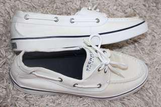 Womens white sperry's