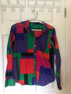 Ralph Lauren Colour Blocked Button Up