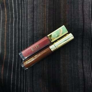 Milani Amore Matte and Atomic Liquid Lipstick bundle