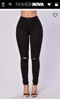 Fashion nova jeans- BLACK