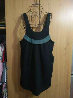 🚚 兩件免運。全新質感設計款黑色背心裙洋裝吊帶裙