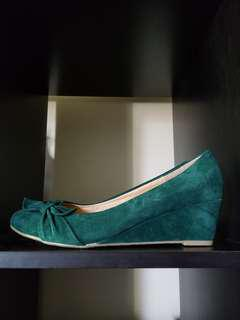 Cute Green Velour Shoes