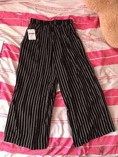 Forever 21 Striped Culottes Style Pant