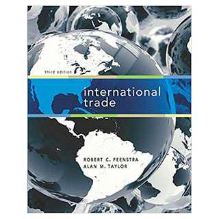 International Trade Paperback – 1601 by Robert C., Taylor, Alan M. Feenstra (Author) 3rd Edition *Paperback*