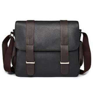Tas Selempang Pria Bahan Kulit Leather Messenger Bag 5ba775632d