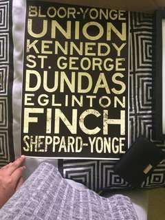 Subway stations poster