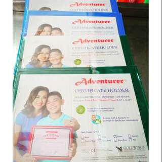 Certificate Holder Short / A4 Size