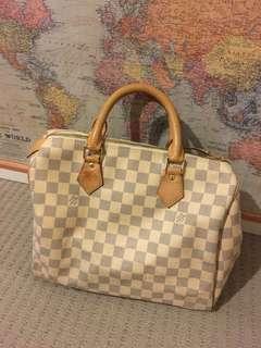 LV speedy bag leather including postage