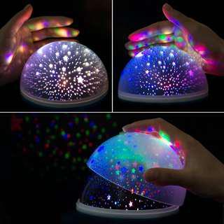 Galaxy rotating lamp
