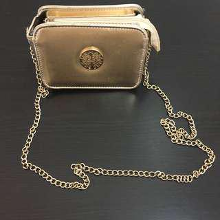 Gold Shoulder-bag / Cross-body bag/ sling bag