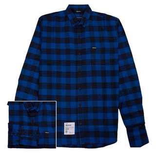 """Maternal Disaster """"Nad"""" Black and Blue Flannel Shirt"""