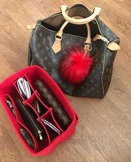 Louis Vuitton Speedy 30 Red Bag Insert
