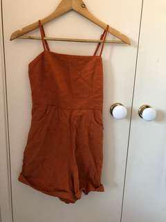 Glassons rust playsuit