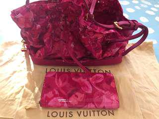 LOUIS VUITTON Limited Edition Indian Rose + Wallet (Authentic)