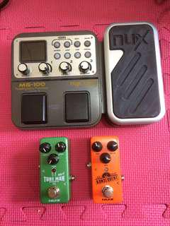 NUX GUITAR EFFECTS(delay & overdrive is new,all comes with a box