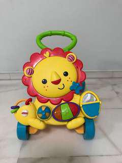 (9.5/10 condition) Fisher Price Musical Lion Walker