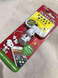 可愛iPhone 咬線器,snoopy cable bite日本直送