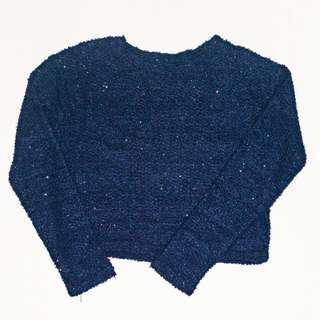 H&M Sparkly Dark Blue Sweater