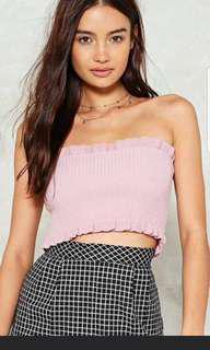 Pink Knit Crop