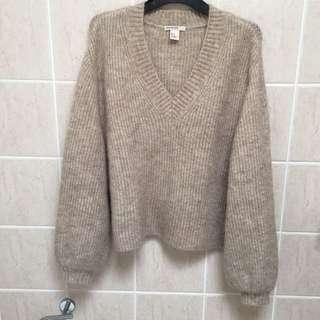 H&M Mohair/Wool Knit Top