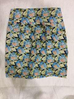 Floral Skirt with Pocket