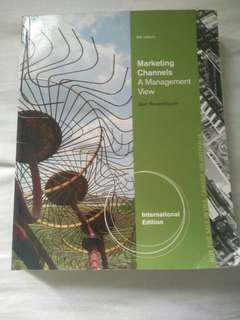 Marketing channel a management view