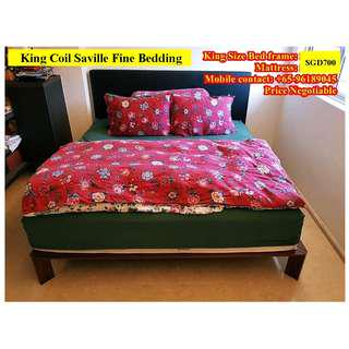 SUPER BARGAIN ON KING COIL KING SIZE BED & MATTRESS!!!!
