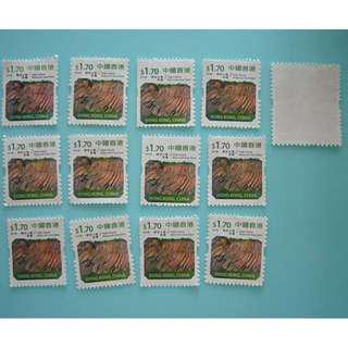 出售絕版 $1.7郵票 12個 (郵局門口自動售買機購買)