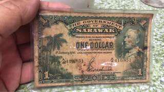 Sarawak one dollar 1941 bank note