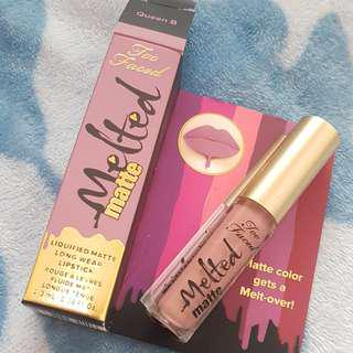 Too Faced Melted Matte Liquid Lipstick in Queen B, deluxe 2.3ml