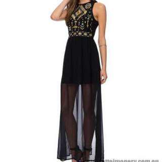 Elisa Embroidered Maxi Dress