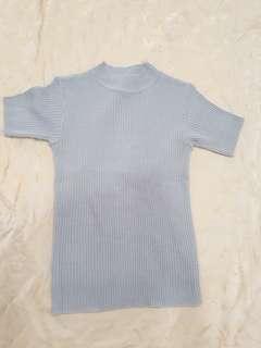 Blouse knit grey preloved
