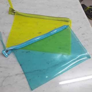 Bershka alike clutch neon blue take all