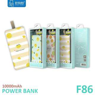 Lemon Series Mobile Power F86 POWER BANK 10000mAh