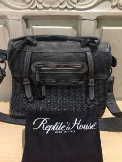 Auth Reptile's House Messenger Bag