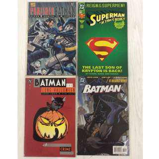 DC Comics Superman Batman Punisher Mortal Kombat Street Fighter Marvel Spider-Man Comics