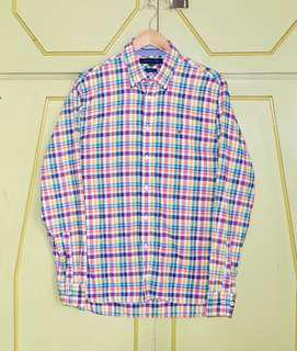 Authentic Tommy Hilfiger Bright Checkered Button Down