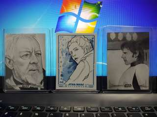 Limited edition Topps Star Wars Sketch Cards