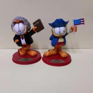 加菲貓 擺設 愛因斯坦及華盛頓造型